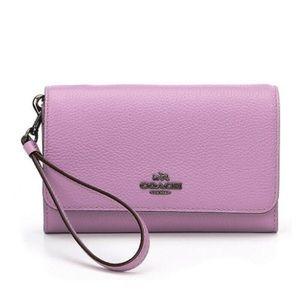 COACH  Phone Clutch Wristlet Wallet Leather